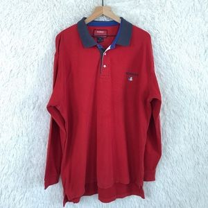 Faconnable | Vintage Red Rugby Polo Shirt Size XL